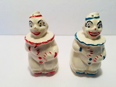 Collectible Vintage Salt and Pepper Shakers Clowns