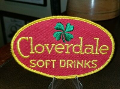 Vintage NOS Cloverdale Soft Drinks Employee Patch