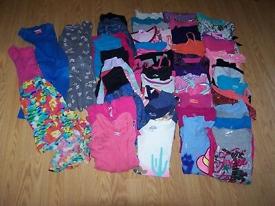 Girls Used Summer/Fall BTS Clothing Size 7/8 Lot of 57 Items