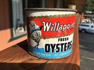 VINTAGE Willapoint OYSTERS CAN - 12 Oz Burlingame, California