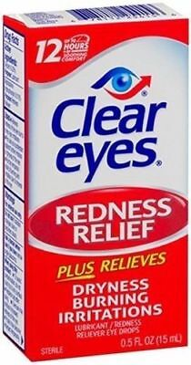6 Pack - Clear Eyes Redness Relief Eye Drops .50 oz/15ml Each