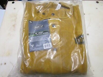 "Ironcat 7005 / XL X-Large 30"" Leather Welding Jacket"