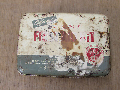 Vintage Johnson & Johnson's Official Boy Scout First Aid Kit, Empty Tin