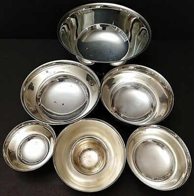 Mixed Lot of 7 Vintage Silverplated Bowls