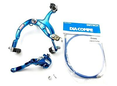 Genuine Dia-Compe MX1000 - MX121 Front Brake Kit Dark Blue- Old School BMX