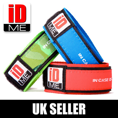 ID Wristband Lost child Allergies Emergency Holiday waterproof contact travel