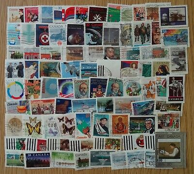 CANADA 1982-1990-  80 OFF PAPER USED COMMEMORATIVE STAMPS 30-39 cent ERAS