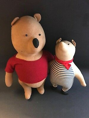 Pre-Disney 1940's Winnie the Pooh and Piglet by Agnes Brush Stuffed Toy Pair
