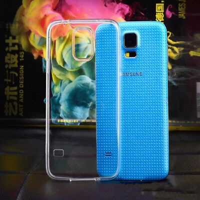 For Samsung Galaxy S5 Case Gel (Clear Crystal TPU Silicone Jelly)