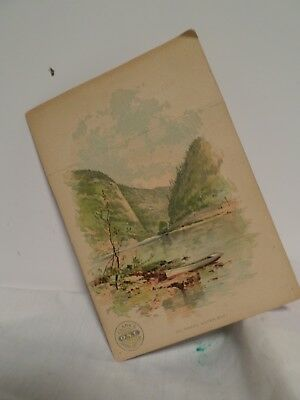 VINTAGE 1880's DELAWARE WATER GAP. CLARKS ONT O N T THREAD TRADE CARD, Spool