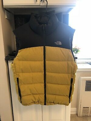 Authentic North Face Nuptse 700 Down Vest Yellow Large Supreme