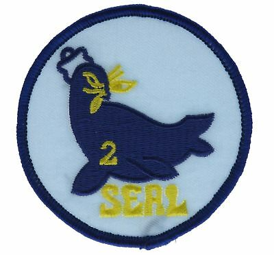 US NAVY SEAL Team 1 One 3 Inch Black White Cap Hat Embroidered Patch