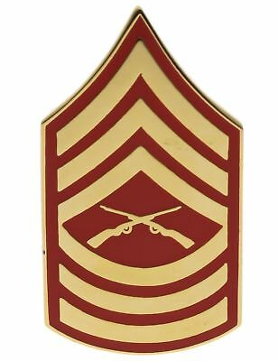 USMC Marines E-8 Master Sergeant Gold & Red Tone Hat or Lapel Pin H14393D153