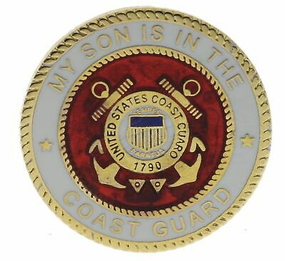 My Son Is In The Coast Guard 1 inch Round Hat or Lapel Pin H15989D160