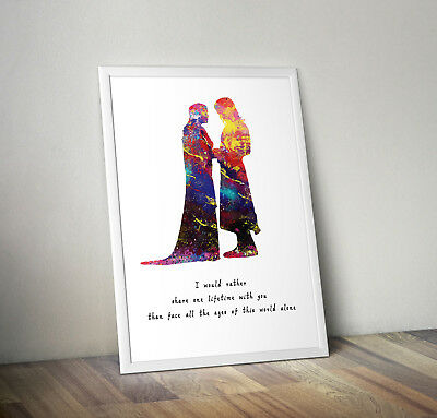 Lord of the rings inspired gandalf poster print wall art decor aragorn and arwen