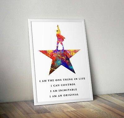 Hamilton Musical poster print wall art decor merchandise gift watercolour