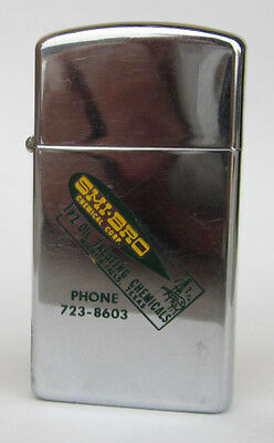 Vintage 60s ZIPPO SMI-BRO Chemical Corp Texas Oil Advertising Slim Lighter
