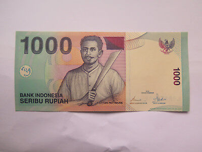 Bank Indonesia 1000 Rupiah Bank Note Excellent Uncirculated Condition 2000