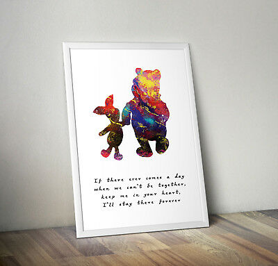 Disney inspired Winnie the Pooh poster print wall art gift decor merchandise