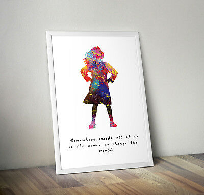 matilda musical inspired roald dahl poster print wall art gift decor merchandise