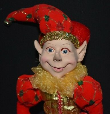 Elf Doll - Red, Gold & Green