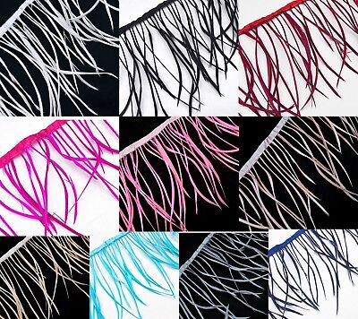 (Yk)Dyed Biots Millinery Goose Feathers Fringe Trim Craft for Fascinator EearRin