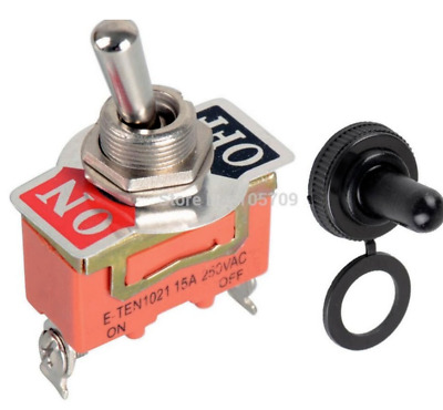 1x Heavy Duty Toggle Switch 12V ON/OFF Car SPST Missile Type Waterproof Cover