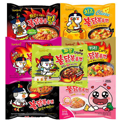 Korea Samyang Hot Spicy Ramen Instant Noodles Buldak Ramyun Collection
