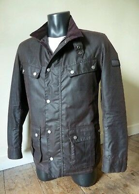 "Superb Barbour "" Duke  "" Rustic Brown Wax Motorcycle Jacket - Sml - £225 - New"