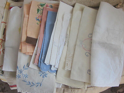 LARGE LOT OF MOST newTEA TOWELS 20 FANCY LINEN +HAND MADE MADEIRA buy it now $21
