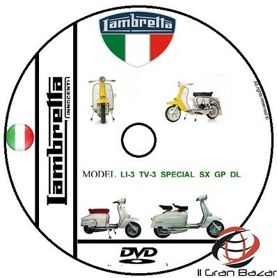 Manuale Officina Lambretta Li-3, Tv-3,special,sx,gp,dl E Derivati Worshop Manual