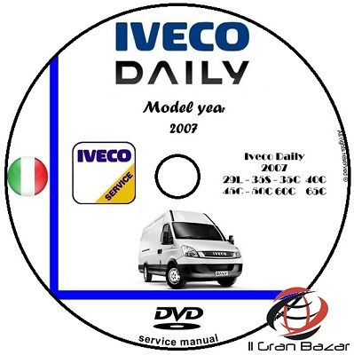 MANUALE OFFICINA IVECO DAILY  my 2007 WORKSHOP MANUAL SERVICE DVD CD