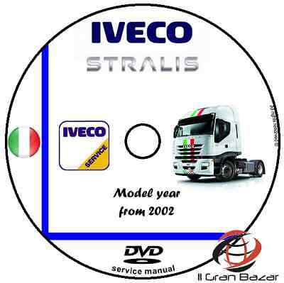 MANUALE OFFICINA IVECO STRALIS  my 2002 WORKSHOP MANUAL SERVICE DVD CD