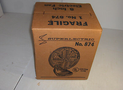 Superlectric 8 inch Electric Fan No. 874 by Superior Electric Fan New Unopened B