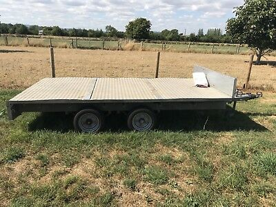 Ifor Williams DP120 Metal flatbed Trailer