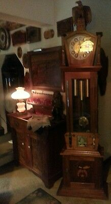 Tall Case Grandfather Clock Masonic one of a kind