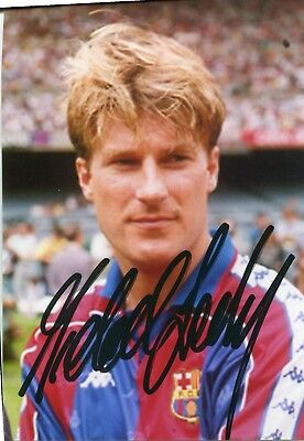 Photo de Michael Laudrup signature autographe E8!