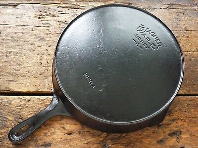 Vintage WAGNER WARE Cast Iron SKILLET Frying Pan # 10  SIDNEY O - Ironspoon