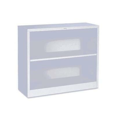 HON Metal Bookcase - Bookcase with Two Shelves, 34-1/2w x 12-5/8d x 29h, Light