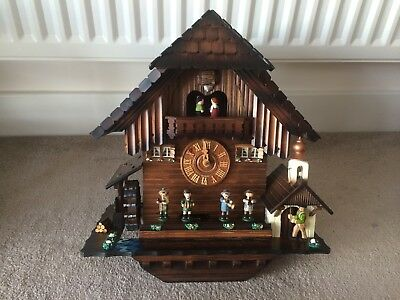 Kuner Vintage German Wooden Musical Chalet Style Cuckoo Clock New