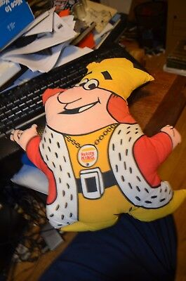 "Burger King Stuffed Plush The King Pillow 1973 Fast Food Ad Doll 13"" Cloth"