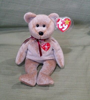 Ty Beanie Baby 1999 SIGNATURE BEAR w/Error GASPORT, MWMT RETIRED