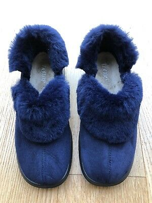 Hotter Mirabel Blue Ladies size 5 Slippers New