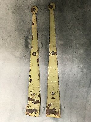 2pc Set Vintage Cast Iron Strap Hinge Barn Gate Door 16""