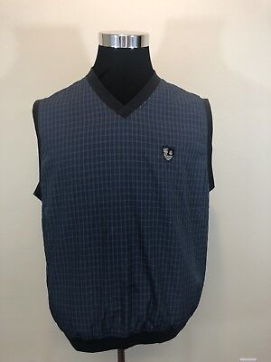 Brooks Brothers Country Club Micro-Checks Pullover V-Neck Golf Vest Medium EUC