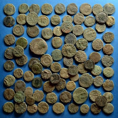 Lot of 90 Uncleaned Roman Bronze Coins