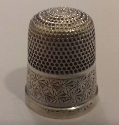 Antique Sterling silver Thimble marked HG&S