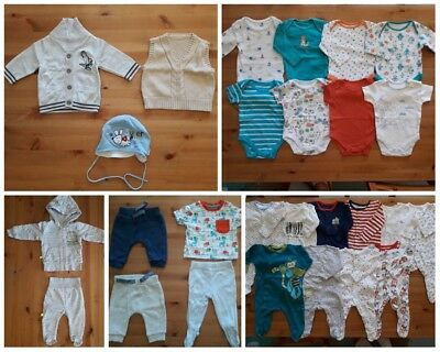 Bundle of baby boys clothes sleepsuits bodysuits set cardigan 0-3 months