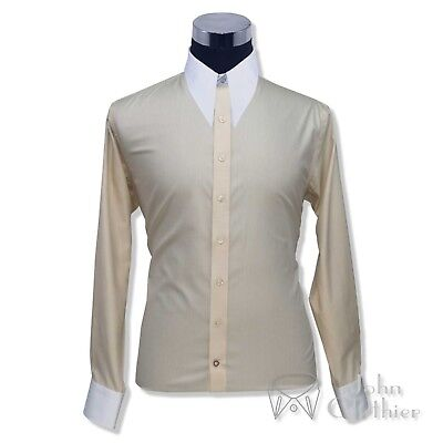 Mens Vintage shirt Spear point collar 1930s 40s Fawn melange Bankers for Gents