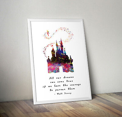 Disney inspired cinderella poster print wall art gift decor merchandise castle